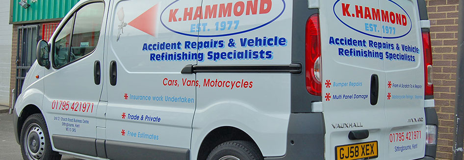 Ken Hammond body repair van